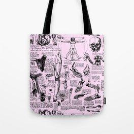 Da Vinci's Anatomy Sketchbook // Light Pink Tote Bag