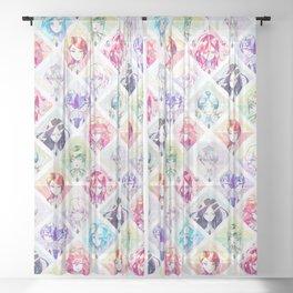 Houseki no kuni - Infinite gems Sheer Curtain