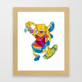Bart Mosaic Framed Art Print