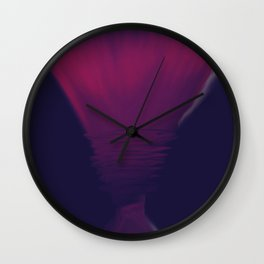 Violet Flame Torch Wall Clock