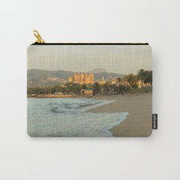 Palma beach with the cathedral in the background- travel photography - Palma de Mallorca Carry-All Pouch
