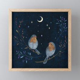 Birds and Berries Framed Mini Art Print