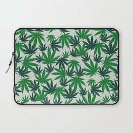 420 Cannabis mary jane Weed Pattern Gift Laptop Sleeve
