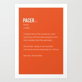 Pacer Art Print