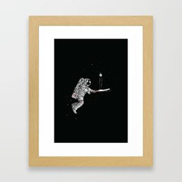 Space cricket Framed Art Print