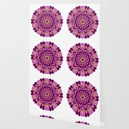 Magenta Madness Mandala Wallpaper