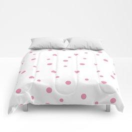 Seamless Pink Polka Dots Pattern Comforters