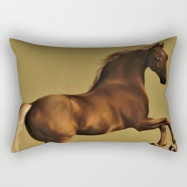 Classical Masterpiece Circa 1762 Racehorse Whistlejacket Rearing Up by George Stubbs Rectangular Pillow