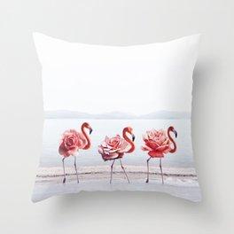 The Pink Dance Throw Pillow