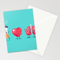 Cigarette first meeting Stationery Cards