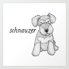Dog Breeds: Schnauzer Art Print