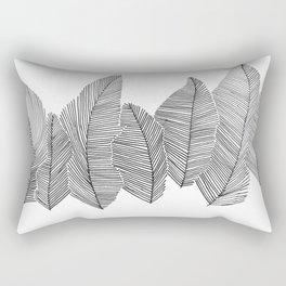 drawn feathers Rectangular Pillow