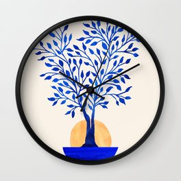 Indigo Ficus Sunrise Wall Clock