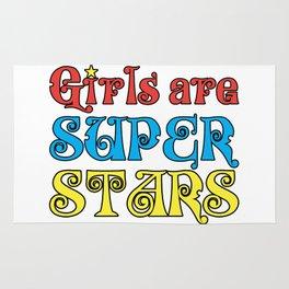 Girls are Super Stars Rug