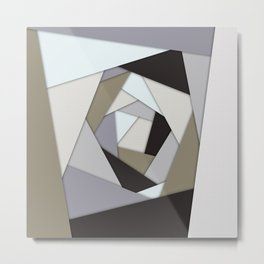 Rotating Geometric Layers Metal Print