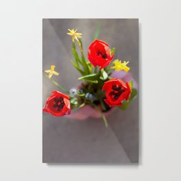 Spring Bunch Metal Print