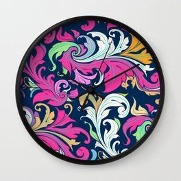 Floral Inspiration Wall Clock