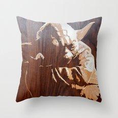 Yoda master art marquetry Throw Pillow