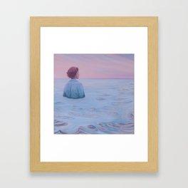 Her Steady Horizon - Sea Framed Art Print