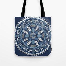 Jaipur Medallion Nantucket Blue Tote Bag