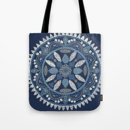 Jaipur Medallion Nantucket Blue Tote Bag