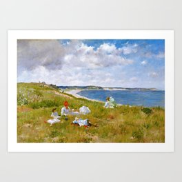 William Merritt Chase - Idle Hours - Digital Remastered Edition Art Print