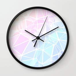 Pastel Triangles 1 Wall Clock