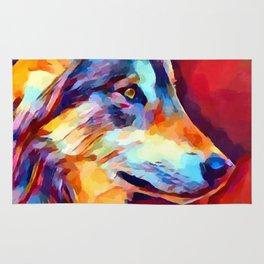 Wolf Portrait 2 Rug