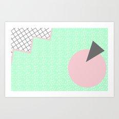 MEMPHIS GREEN Art Print