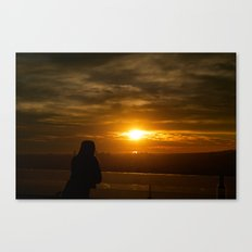 As the sun sets over Los Angeles Canvas Print