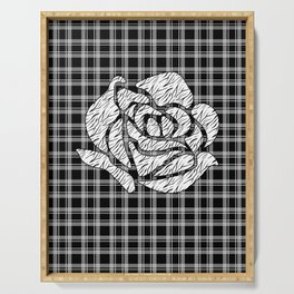 Quilting rose 1 Serving Tray