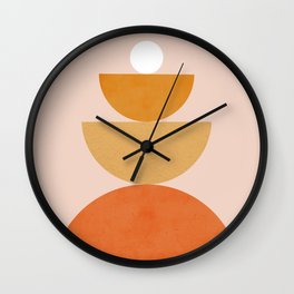 Abstraction Circles Balance Modern Minimalism 007 Wall Clock