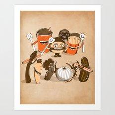 Food Fight Art Print