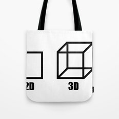 3D stereo Tote Bag