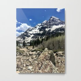 : majestic maroon : Metal Print