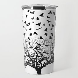 Crows in a tree Travel Mug