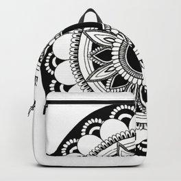 manifestation mandala white background Backpack