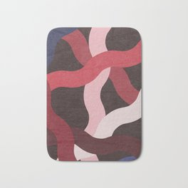 Red Blood Random Waves Bath Mat