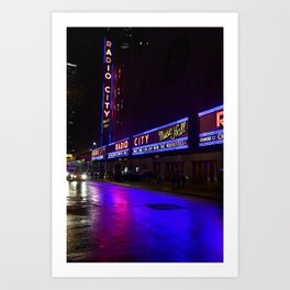 Reflections of Radio City Music Hall Art Print
