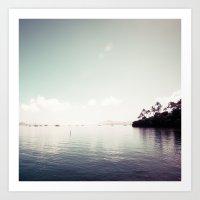 island Art Prints featuring island by noirblanc777