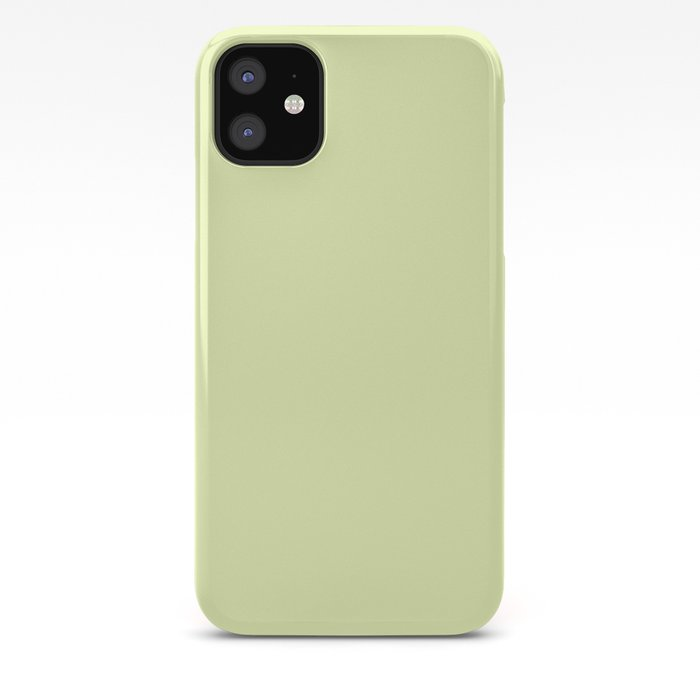 Pastel yellow color clear iPhone Case