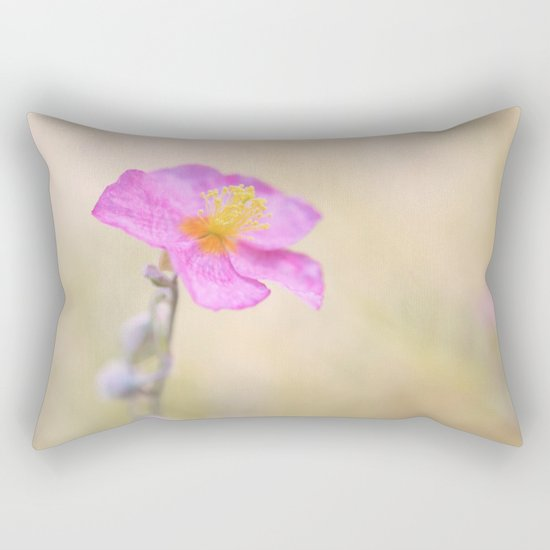 Lovely pink flower against backlit Rectangular Pillow