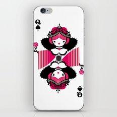 Queen os spades iPhone & iPod Skin