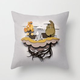 Buenos Vecinos - Good Neighbours Throw Pillow