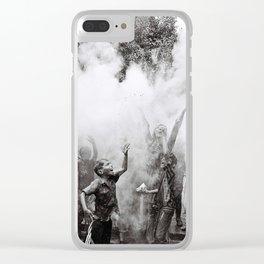 Technicolor Celebration Clear iPhone Case