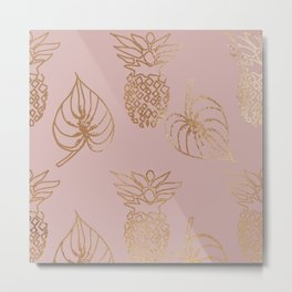 Gold Tropical Metal Print