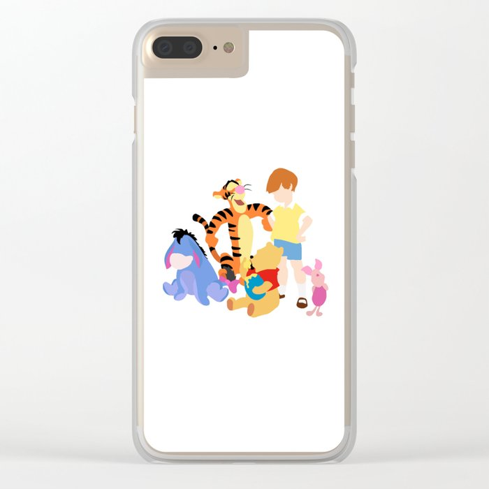 Winnie the pooh characters Clear iPhone Case