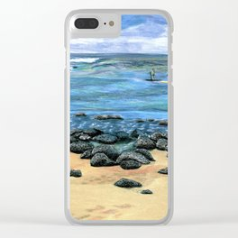 Poipu Beach Landscape Clear iPhone Case