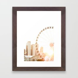 Chicago's Ferris Wheel Framed Art Print