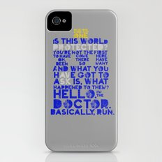 Basically, run (Doctor Who) iPhone (4, 4s) Slim Case